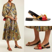 TOGA Open Toe Casual Style Leather Python Sandals Sandals