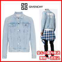 GIVENCHY Unisex Denim Street Style Plain Jackets