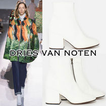 Dries Van Noten Plain Toe Casual Style Plain Chunky Heels