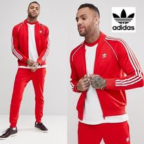 adidas Short Stripes Street Style Plain Track Jackets