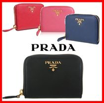 PRADA Street Style Leather Coin Purses