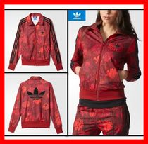 adidas Flower Patterns Casual Style Street Style Outerwear