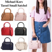 Michael Kors BEDFORD Tassel 2WAY Plain Leather Elegant Style Handbags
