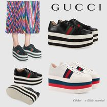 GUCCI Platform Casual Style Low-Top Sneakers