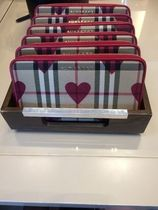 Burberry Other Check Patterns Heart Long Wallets