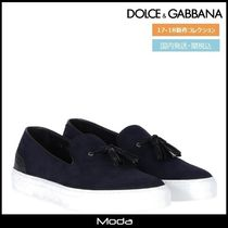 Dolce & Gabbana Plain Toe Suede Tassel Bi-color Plain Loafers & Slip-ons