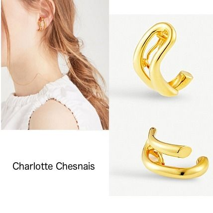 earring on chesnais hook earrings shop deal gold charlotte vermeil small spectacular