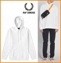 RAF SIMONS Pullovers Collaboration Long Sleeves Plain Cotton Oversized