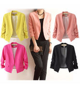 Short Plain Party Style Jackets