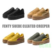 PUMA FENTY Platform Casual Style Suede Street Style Collaboration Plain