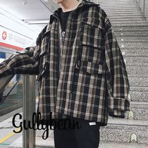 Other Check Patterns Street Style Long Sleeves Oversized