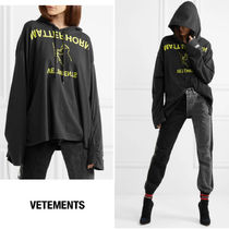 VETEMENTS Casual Style Long Sleeves Cotton Medium