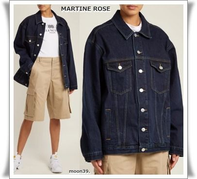 Short Unisex Street Style Plain Denim Jackets Oversized