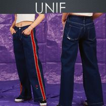 UNIF Clothing Stripes Casual Style Cotton Long Pants