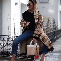 Burberry Casual Style Street Style Medium Trench Coats