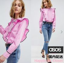 ASOS Casual Style Long Sleeves Plain Cotton Medium