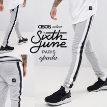 ASOS Stripes Sweat Street Style Bi-color Joggers & Sweatpants