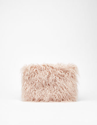 Casual Style Faux Fur Street Style Plain Clutches