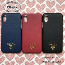 PRADA SAFFIANO LUX Plain Smart Phone Cases