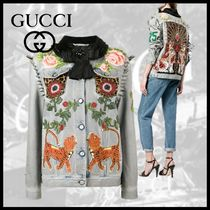 GUCCI Casual Style Other Animal Patterns Medium Jackets