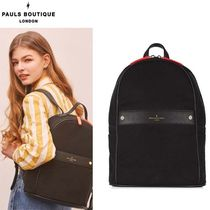 Paul's Boutique Casual Style Street Style A4 Plain Backpacks