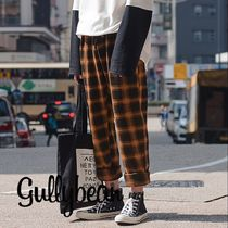 Printed Pants Other Check Patterns Street Style