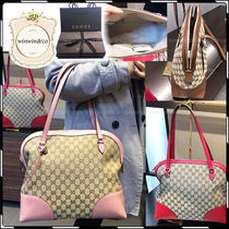 GUCCI Casual Style Canvas A4 Handbags