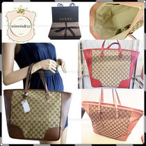 GUCCI Casual Style Canvas Handbags