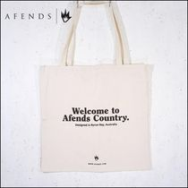 AFENDS Casual Style Unisex Cambus Street Style A4 Plain Oversized