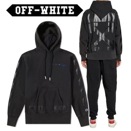 Off-White Hoodies Street Style Collaboration Long Sleeves Cotton Hoodies
