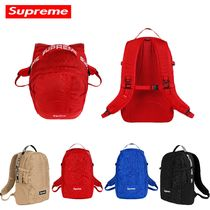 Supreme Unisex Street Style Bag in Bag Plain Backpacks