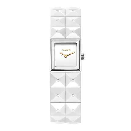 Casual Style Square Quartz Watches Ceramic Analog Watches