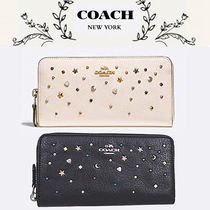 Coach Star Studded Leather Long Wallets