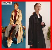 SCULPTOR Street Style Long Trench Coats