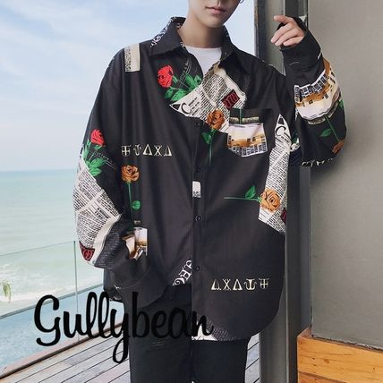 Shirts Flower Patterns Street Style Long Sleeves Shirts