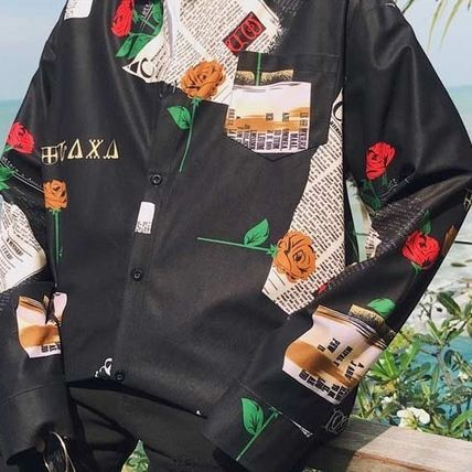 Shirts Flower Patterns Street Style Long Sleeves Shirts 7