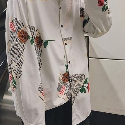 Shirts Flower Patterns Street Style Long Sleeves Shirts 20