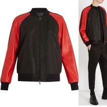 NeIL Barrett Plain Leather Jackets