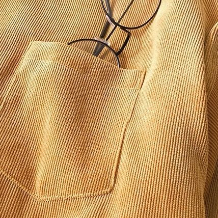Shirts Corduroy Street Style Long Sleeves Plain Shirts 18