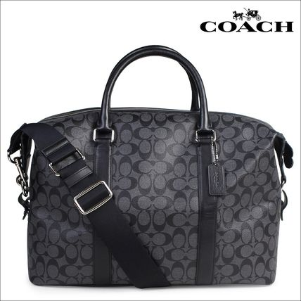 A4 2WAY Leather Boston Bags