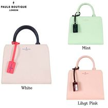 Paul's Boutique Casual Style Street Style 2WAY Plain Totes