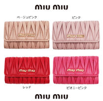 MiuMiu Plain Leather Keychains & Bag Charms