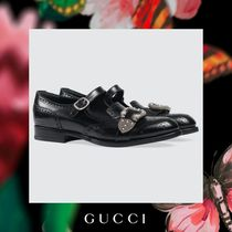GUCCI Monk Leather Loafers & Slip-ons