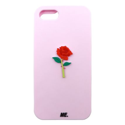 Flower Patterns Street Style Plain Silicon Smart Phone Cases