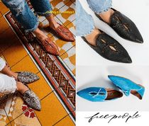 Free People Casual Style Street Style Plain Leather Slip-On Shoes
