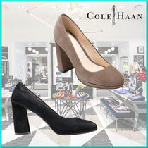 Cole Haan Plain Toe Suede Plain Office Style High Heel Pumps & Mules