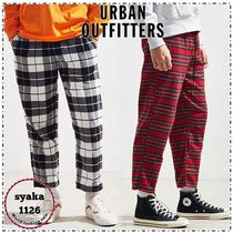 Urban Outfitters Tapered Pants Other Check Patterns Street Style Cotton