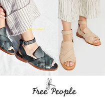 Free People Open Toe Casual Style Faux Fur Street Style Plain Sandals