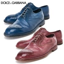 Dolce & Gabbana Plain Toe Plain Leather Oxfords