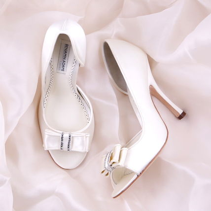 Open Toe Blended Fabrics Plain Pin Heels Party Style